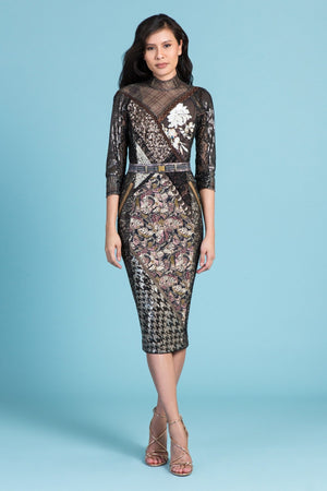 Byron Lars Cocktail Golden Rule Burnished Dress