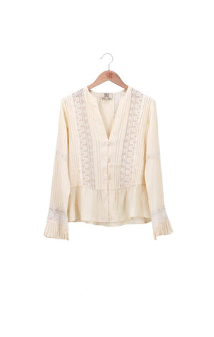 T.ba Lizzie Viscose Crepe Long Sleeve Blouse