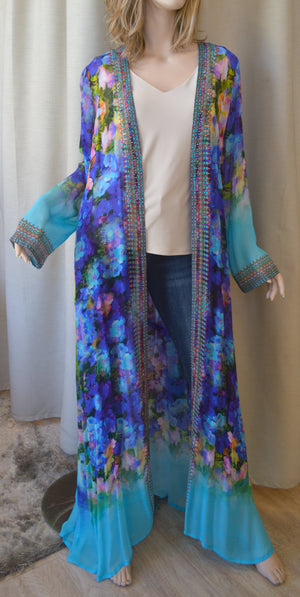 Shahida Parides Long Sleeves Maxi Open Sash Duster