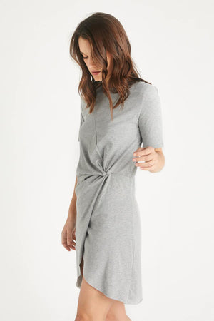 Etica Short Sleeves Short Dress Veronica Heather Grey