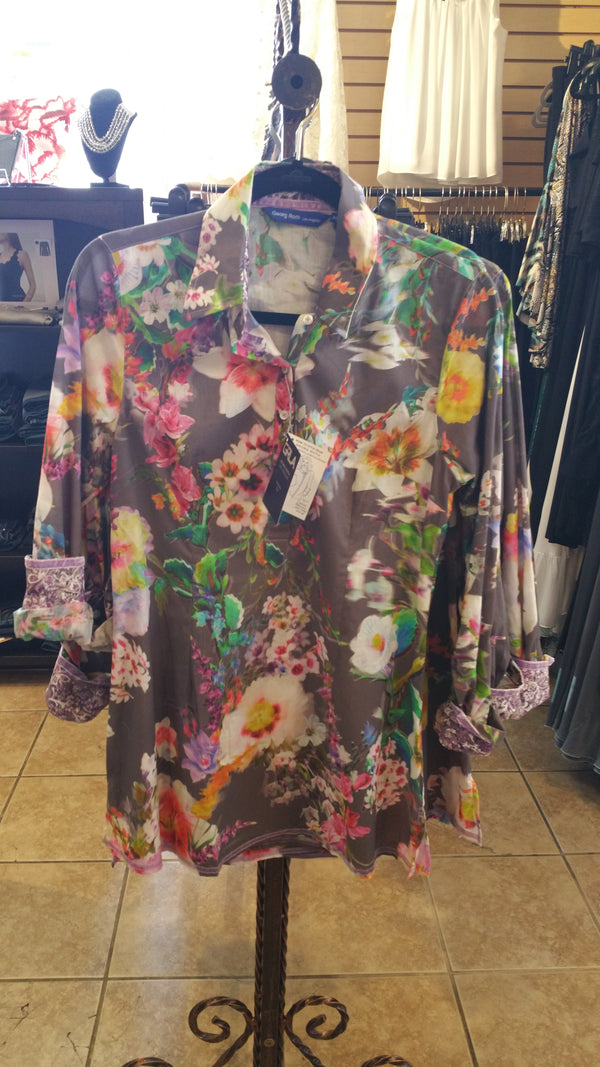 Georg Roth Long Sleeve Floral Blouse