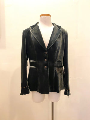 T.ba Mariane Classic Long Sleeve Rock Silk Velvet Jacket
