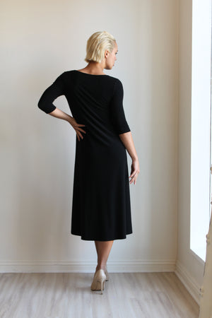 Joseph Ribkoff Asymetric 3/4 Sleeve Dress
