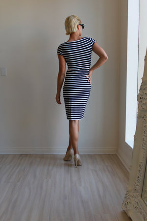 Joseph Ribkoff Striped Short Sleeve Dress