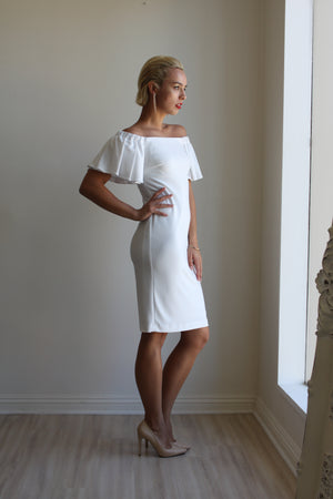 Joseph Ribkoff White Dress 181029a