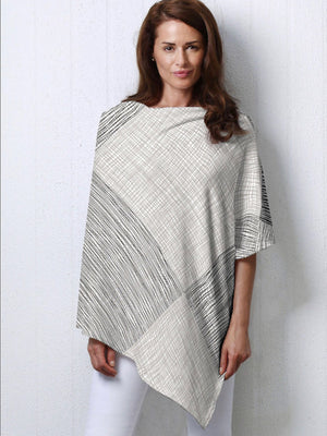 Whimsy Rose Sketch Slub Poncho