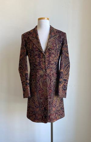 T.ba Levita Classic Short Coat with Jacquard Wool
