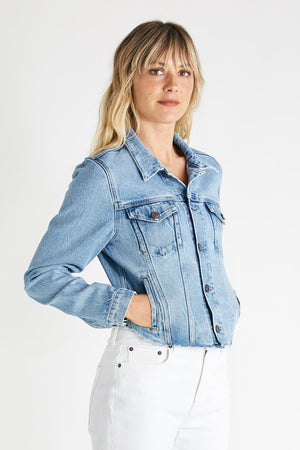 Etica Denim Cropped Long Sleeves Jacket