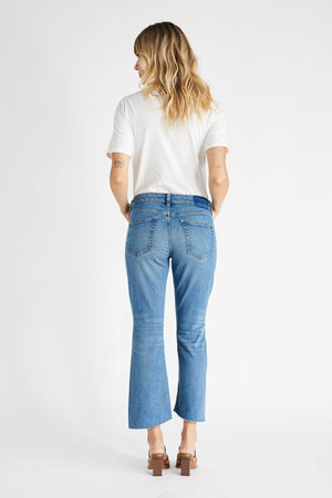 Etica Cropped Kick-Flare Denim Jeans Micki-Owens Lake