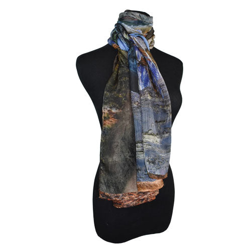 Dupatta Designs Abstract Digital Silk Scarf