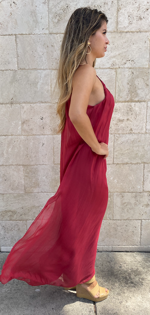 Papillon Silk Maxi Dress
