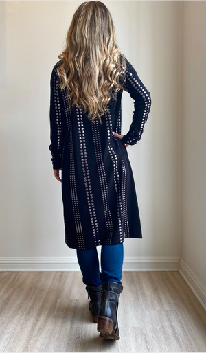 Joseph Ribkoff Long Sleeves With Studs Duster