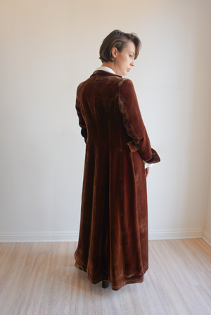 T.ba Long Classic Coat Long Sleeve Velvet