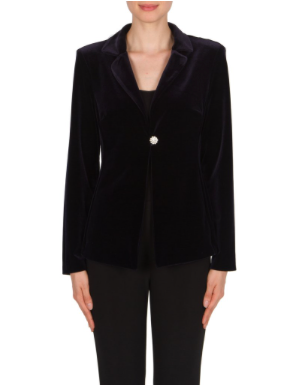 Joseph  Ribkoff Velvet Midnight Blue Jacket 174366