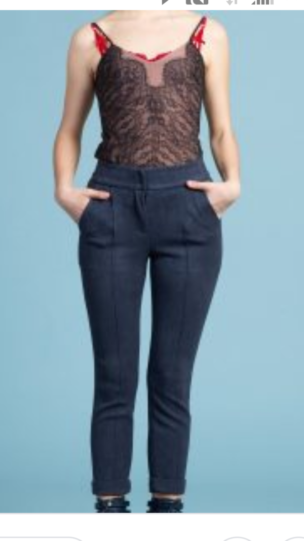 Byron Lars Buckskin Stretch Midnight Pants
