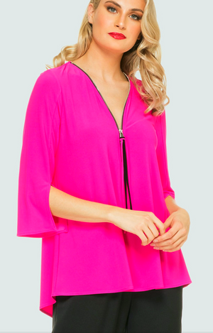 Joseph Ribkoff  3/4 Sleeves Zipper Tunic