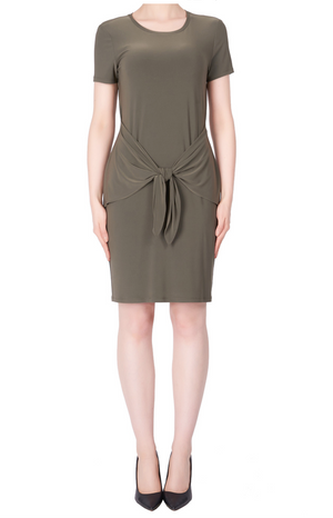 Joseph Ribkoff Short Sleeve Wrap Around Dress