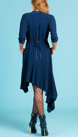 Byron Lars Solid Stretch Long Sleeves Tunic/Dress