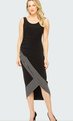 Joseph Ribkoff Sleeveless Long Stripes Dress