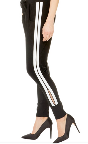Joseph Ribkoff Stripes On The Side Pants
