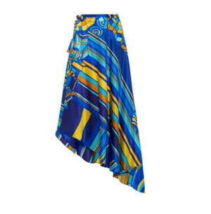 Amaris Cross Over Pareo Long Multicolor Print Skirt
