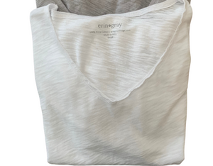Erin Gray Perfect Messy Tee in White
