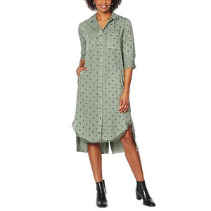Billy T Button Down Starry Shirt Dress