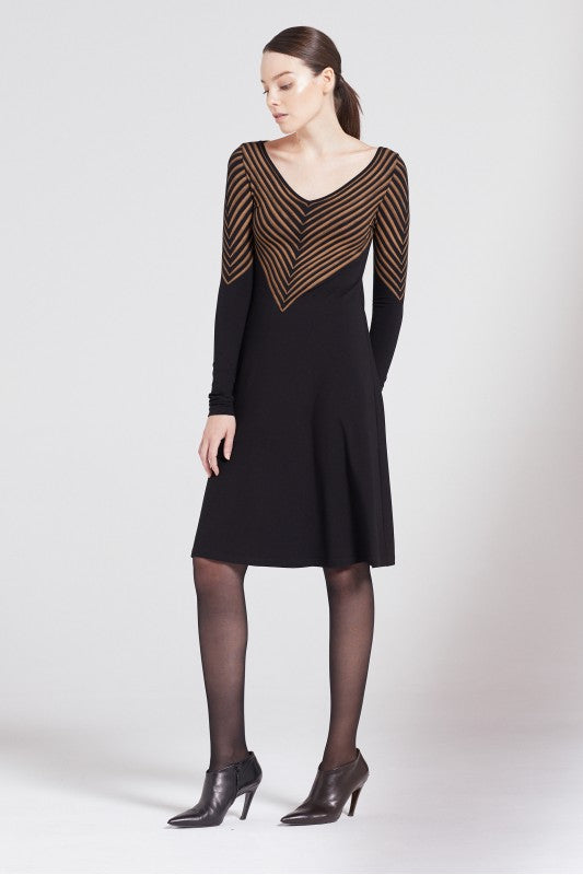 Isabel de Pedro Long Sleeves V Neck Dress