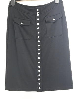 Isabel De Pedro Black Skirt With Buttons