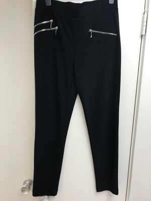 Joseph Ribkoff Black Pants With Zippers