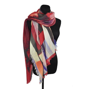 Dupatta Designs Blend Painterly Abstract Scarf