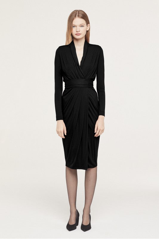 Isabel De Pedro Long Sleeves Belt Dress