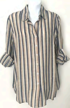 Cino Long Sleeve Stripes Blouse