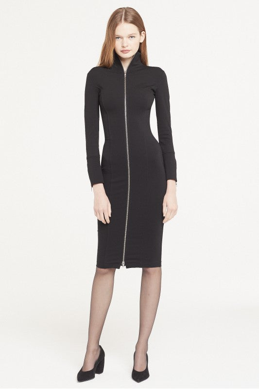 Isabel De Pedro Pencil Zipper long Sleeves Dress