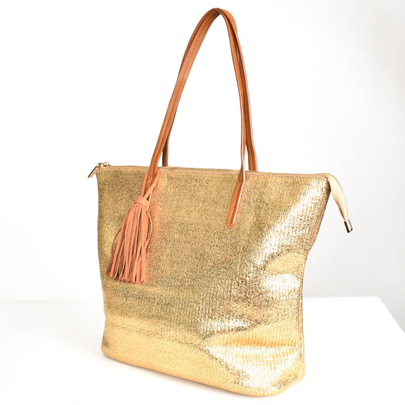 All that's Gold Glitters Metallic Tote