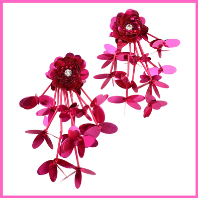 Hot House Exotic Blooms Earrings