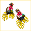 Tropical Breeze Earrings - Yellow