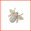 Bee-dazzeled Gold Brooch