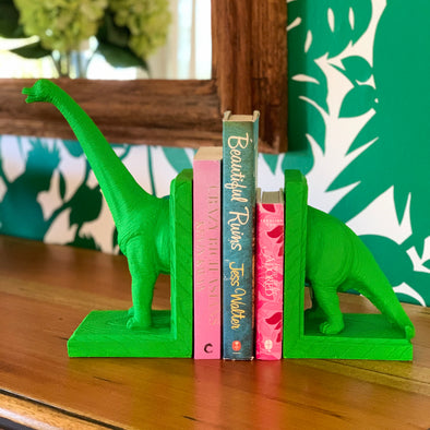 Readasaurus Bookends - Green