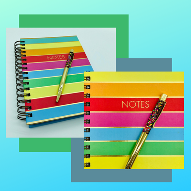 Rainbow Stripe Notebook