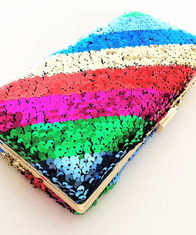 Sequin Rainbow - Clutch