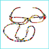 Rainbow beaded glasses chain