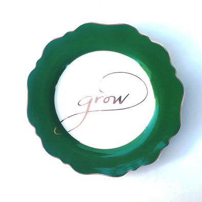 "Side Plate - Green ""Grow"""