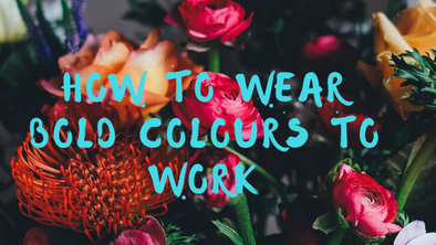 How to wear bold colours to work