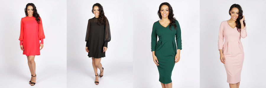 Midi dress, shift dress, dress for mums, pleated dress