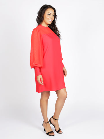 Shop Thalia Red Shift Dress