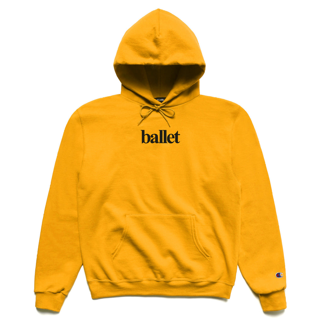 Gold Logo Hooded Sweatshirt