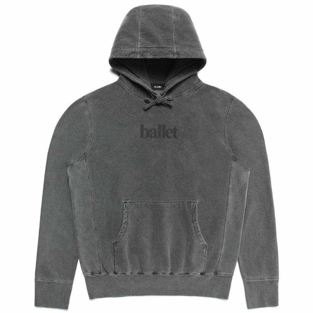 Washed Black Logo Sweatshirt