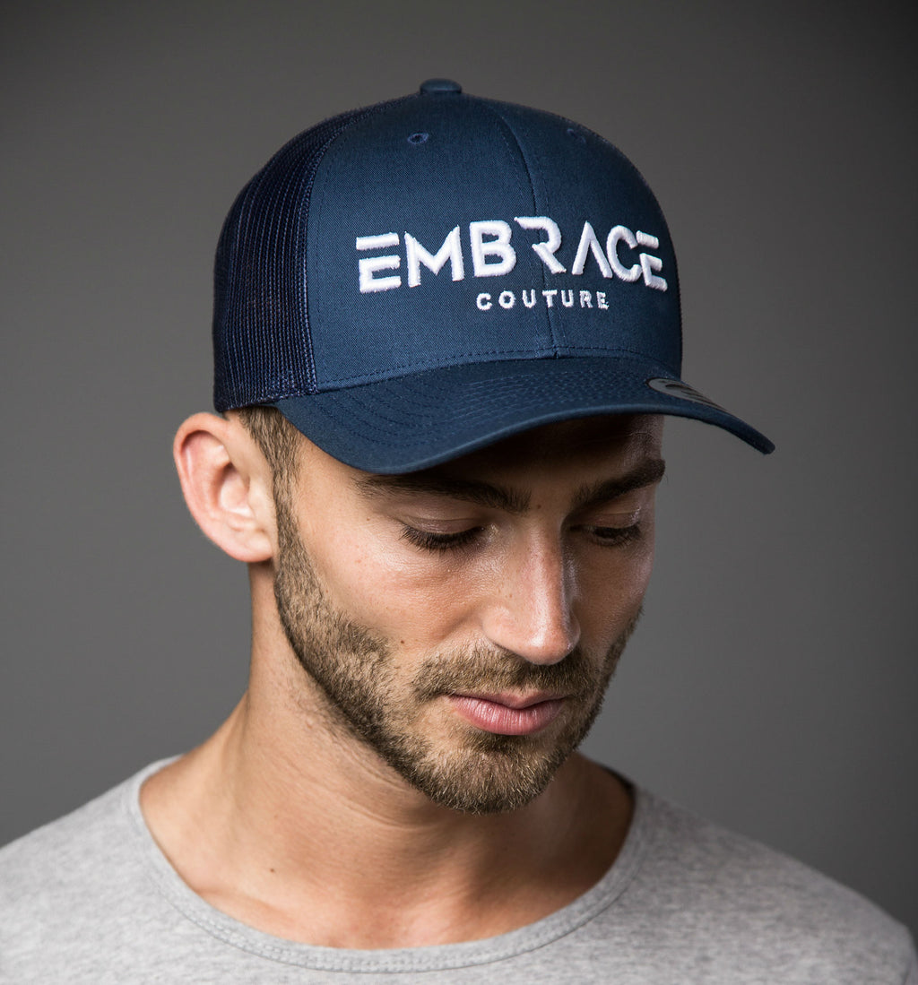 Statement Trucker Cap - Navy