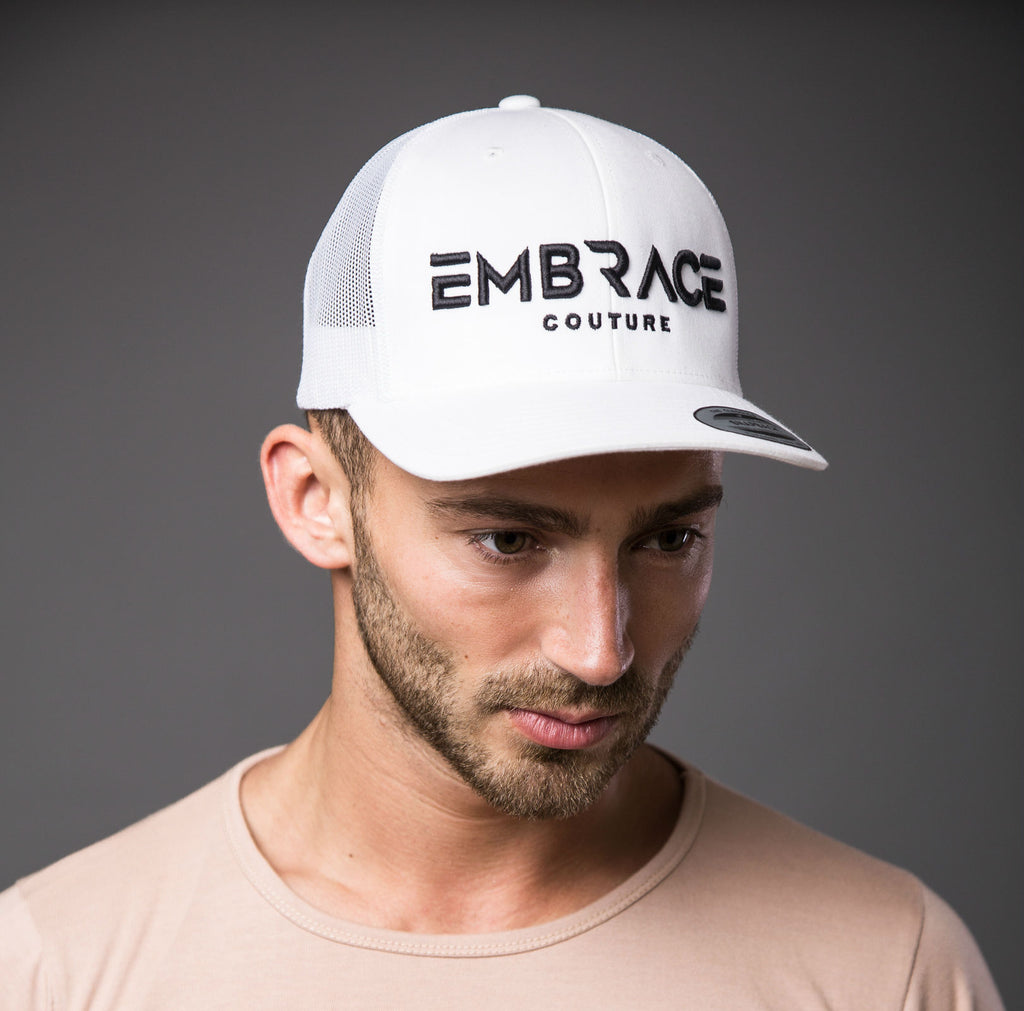 Statement Trucker Cap - White